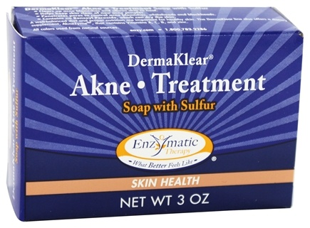 Enzymatic Therapy - Dermaklear Akne Treatment Soap with Sulfur - 3 oz.
