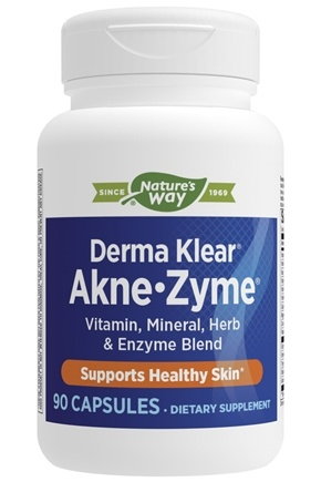 Enzymatic Therapy - Derma Klear Akne-Zyme - 90 Capsules