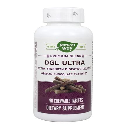Enzymatic Therapy - DGL Ultra German Chocolate - 90 Chewable Tablets