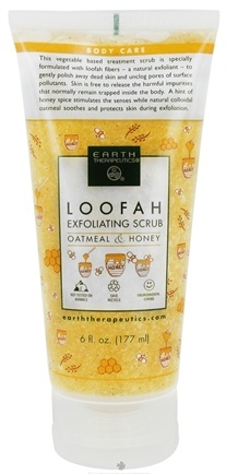 DROPPED: Earth Therapeutics - Loofah Exfoliating Scrub Oatmeal & Honey - 6 oz. CLEARANCE PRICED