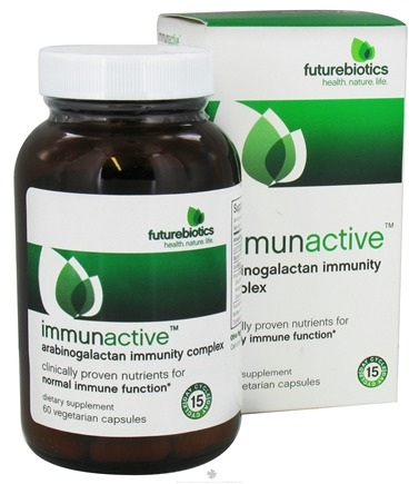 DROPPED: Futurebiotics - Immunactive Arabinogalactan Immunity Complex - 60 Vegetarian Capsules CLEARANCE PRICED
