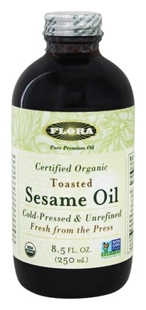 Flora - Toasted Sesame Oil Certified Organic - 8.5 oz.