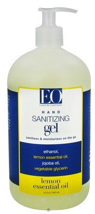 DROPPED: EO Products - Hand Sanitizing Gel Lemon - 32 oz.