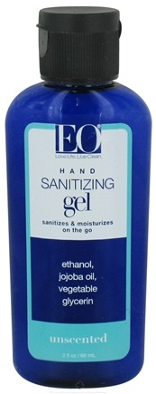 DROPPED: EO Products - Hand Sanitizing Gel Travel Size Unscented - 2 oz.