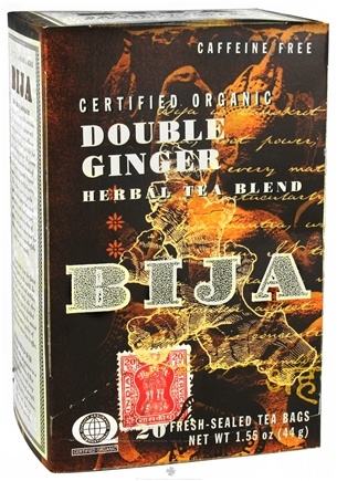 DROPPED: Flora - Bija Double Ginger Herbal Tea Certified Organic Caffeine Free - 20 Tea Bags CLEARANCE PRICED