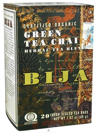 DROPPED: Flora - Bija Green Tea Chai Herbal Tea Certified Organic - 20 Tea Bags