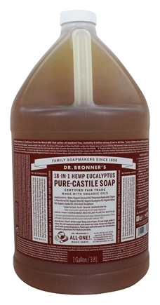 Dr. Bronners - Magic Pure-Castile Soap Organic Eucalyptus - 128 oz. - 1 Gallon