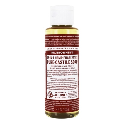 DROPPED: Dr. Bronners - Magic Pure-Castile Soap Organic Eucalyptus - 4 oz. CLEARANCE PRICED
