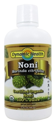 Dynamic Health - Organic Noni Juice From Tahiti 100% Pure - 32 oz.