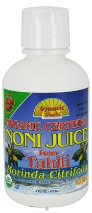 DROPPED: Dynamic Health - Organic Noni Juice from Tahiti Raspberry - 16 oz. CLEARANCED PRICED