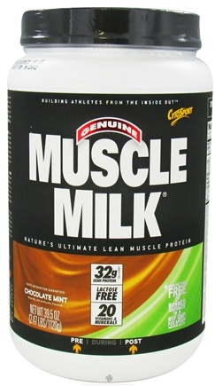 DROPPED: Cytosport - Muscle Milk Genuine Nature's Ultimate Lean Muscle Protein Chocolate Mint - 2.47 lbs. CLEARANCE PRICED