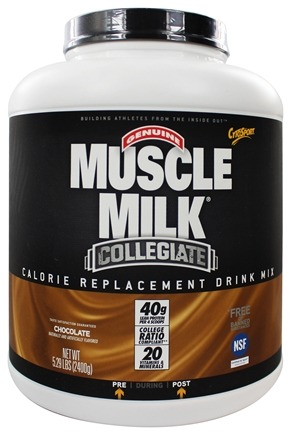 Cytosport - Muscle Milk Genuine Collegiate Calorie Replacement Drink Mix Chocolate - 5.29 lbs.