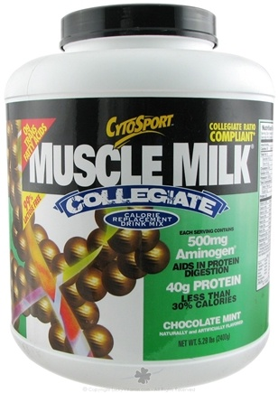 DROPPED: Cytosport - Muscle Milk Collegiate Calorie Replacement Drink Mix Chocolate Mint Flavor - 5.29 lbs.
