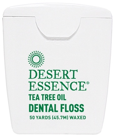 Desert Essence - Tea Tree Oil Dental Floss Wax - 50 Yard(s) LUCKY PRICE