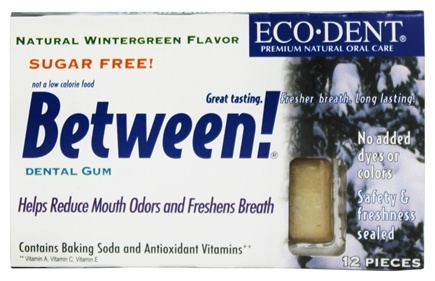 DROPPED: Eco-Dent - Between Dental Gum Wintergreen - 12 Piece(s)