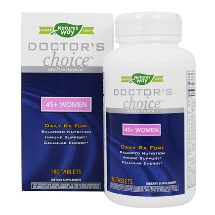 Enzymatic Therapy - Doctor's Choice Multivitamins For 45-Plus Women - 180 Tablets