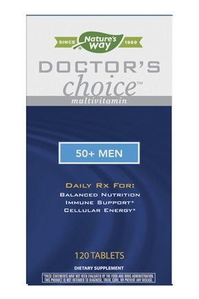 Enzymatic Therapy - Doctor's Choice Multivitamin For 50-Plus Men - 120 Tablets