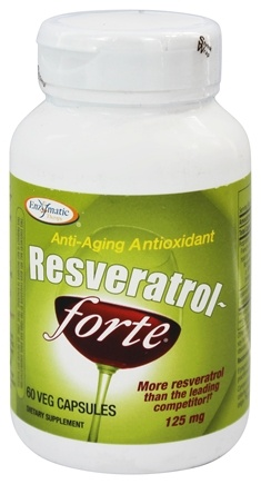 Enzymatic Therapy - Resveratrol-forte Anti-aging Antioxidant - 60 Vegetarian Capsules