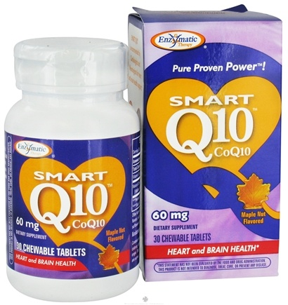DROPPED: Enzymatic Therapy - SMART Q10 Coq10 Maple Nut Flavor 60 mg. - 30 Chewable Tablets