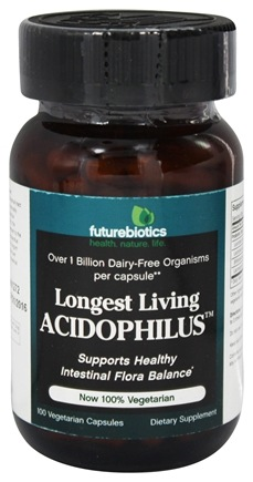 Futurebiotics - Longest Living Acidophilus - 100 Vegetarian Capsules