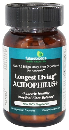Futurebiotics - Longest Living Acidophilus + - 100 Vegetarian Capsules