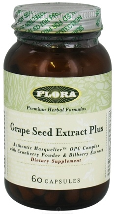 DROPPED: Flora - Grape Seed Extract Plus 50 mg. - 60 Capsules CLEARANCE PRICED