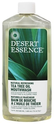 Desert Essence - Natural Refreshing Tea Tree Oil Mouthwash - 16 oz.