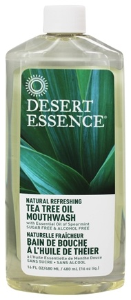 Desert Essence - Natural Refreshing Tea Tree Oil Mouthwash - 16 oz. LUCKY PRICE