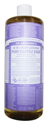 Dr. Bronners - Magic Pure-Castile Soap Organic Lavender - 32 oz.