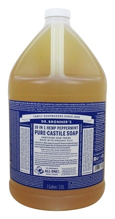 Dr. Bronners - Magic Pure-Castile Soap Organic Peppermint - 128 oz. - 1 Gallon
