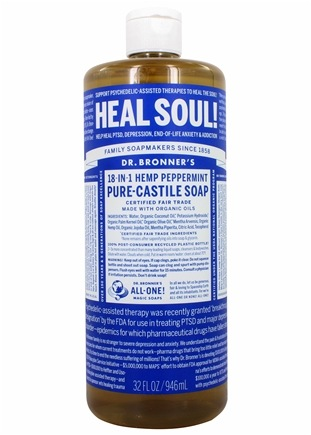 Dr. Bronners - Magic Pure-Castile Soap Organic Peppermint - 32 oz.