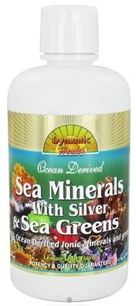 DROPPED: Dynamic Health - Sea Minerals with Silver & Sea Greens Lemon-Lime - 32 oz.