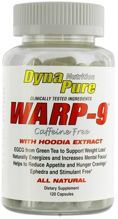 DROPPED: Dynapure Nutrition - Warp-9 with Hoodia Caffeine Free - 120 Capsules