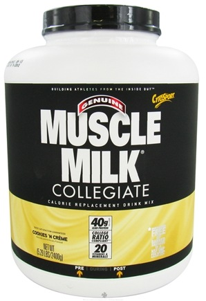 DROPPED: Cytosport - Muscle Milk Genuine Collegiate Calorie Replacement Drink Mix Cookies 'N Creme - 5.29 lbs. CLEARANCE PRICED