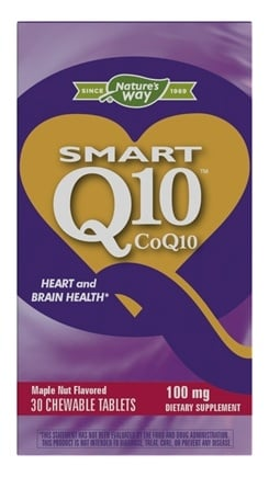 Enzymatic Therapy - SMART Q10 CoQ10 Maple Nut Flavor 100 mg. - 30 Chewable Tablets