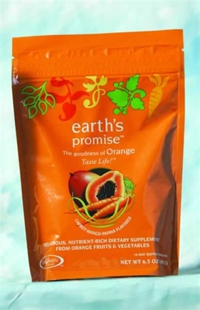 DROPPED: Enzymatic Therapy - Earth's Promise Drink Mix 14 Day Supply Carrot Mango Papaya Flavor - 6.5 oz.