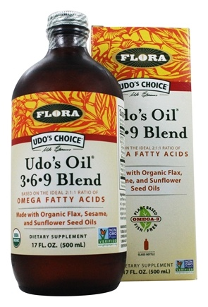 Flora - Udo's Choice Udo's Oil 3 6 9 Blend - 17 oz. (Formerly Udo's Choice Oil Blend)