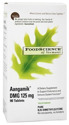 FoodScience of Vermont - Aangamik DMG 125 mg. - 90 Vegetarian Tablets