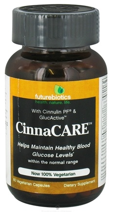 DROPPED: Futurebiotics - Cinnacare - 60 Vegetarian Capsules CLEARANCE PRICED