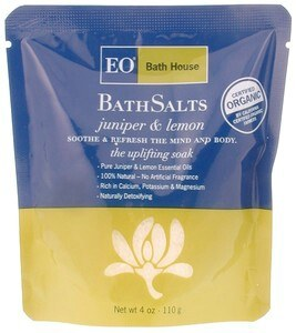 DROPPED: EO Products - Organic Bath Salts Juniper & Lemon - 4 qt.