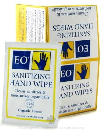 DROPPED: EO Products - Sanitizing Hand Wipes Lemon - CLEARANCE PRICED