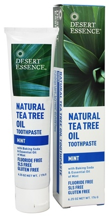 Desert Essence - Toothpaste Natural Tea Tree Oil With Baking Soda Mint - 6.25 oz.