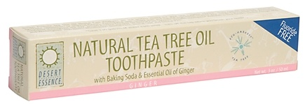 DROPPED: Desert Essence - Tea Tree Oil Toothpaste Ginger - 3 oz.