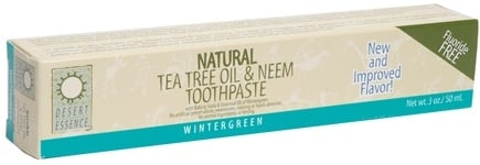 DROPPED: Desert Essence - Tea Tree Oil Toothpaste with Baking Soda & Essential Oil of Mint - 3 oz.