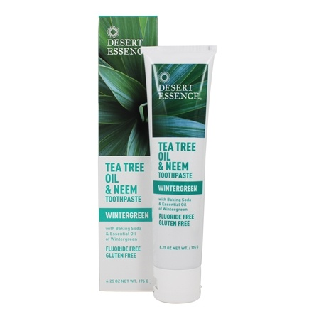 Desert Essence - Toothpaste Natural Tea Tree Oil & Neem With Baking Soda Wintergreen - 6.25 oz.