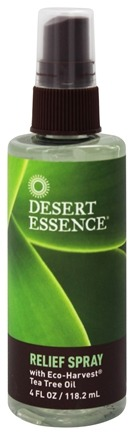 Desert Essence - Relief Spray with Eco-Harvest Tea Tree Oil - 4 oz.