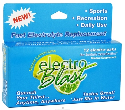 DROPPED: Electroblast - Electo Blast Lemon-Lime - 12 Pack(s) CLEARANCE PRICED