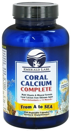 DROPPED: Emerald Labs - Coral Calcium Complete - 120 Capsules