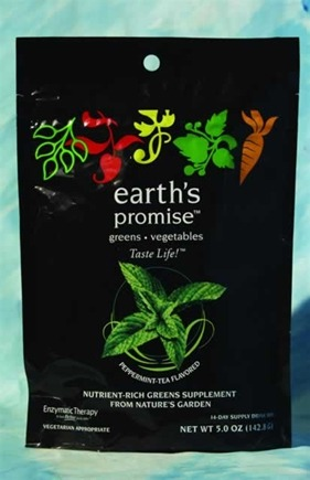DROPPED: Enzymatic Therapy - Earth's Promise Drink Mix 14 Day Supply Peppermint Tea Flavor - 6.5 oz.