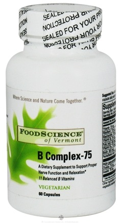 DROPPED: FoodScience of Vermont - B Complex-75 - 60 Capsules CLEARANCE PRICED